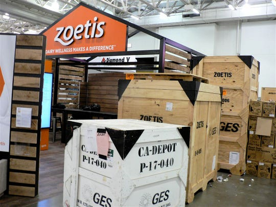 On Monday, Exhibition Hall was piled high with boxes.