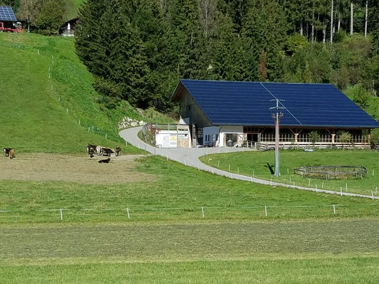 Solar panels are found on most barns and houses in the rural areas of Austria and Germany.