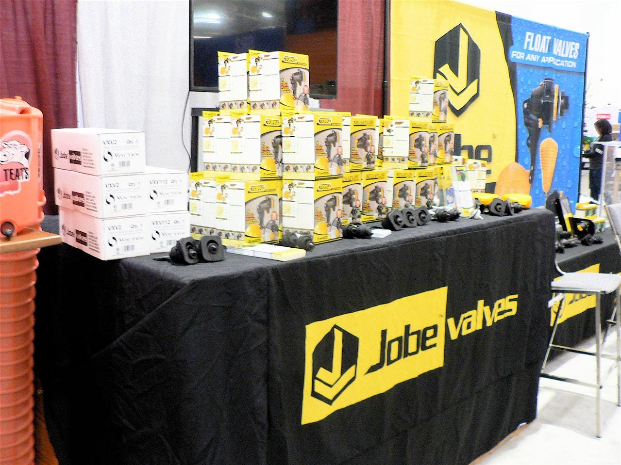 Finished putting up the exhibit of Jobe Valves.