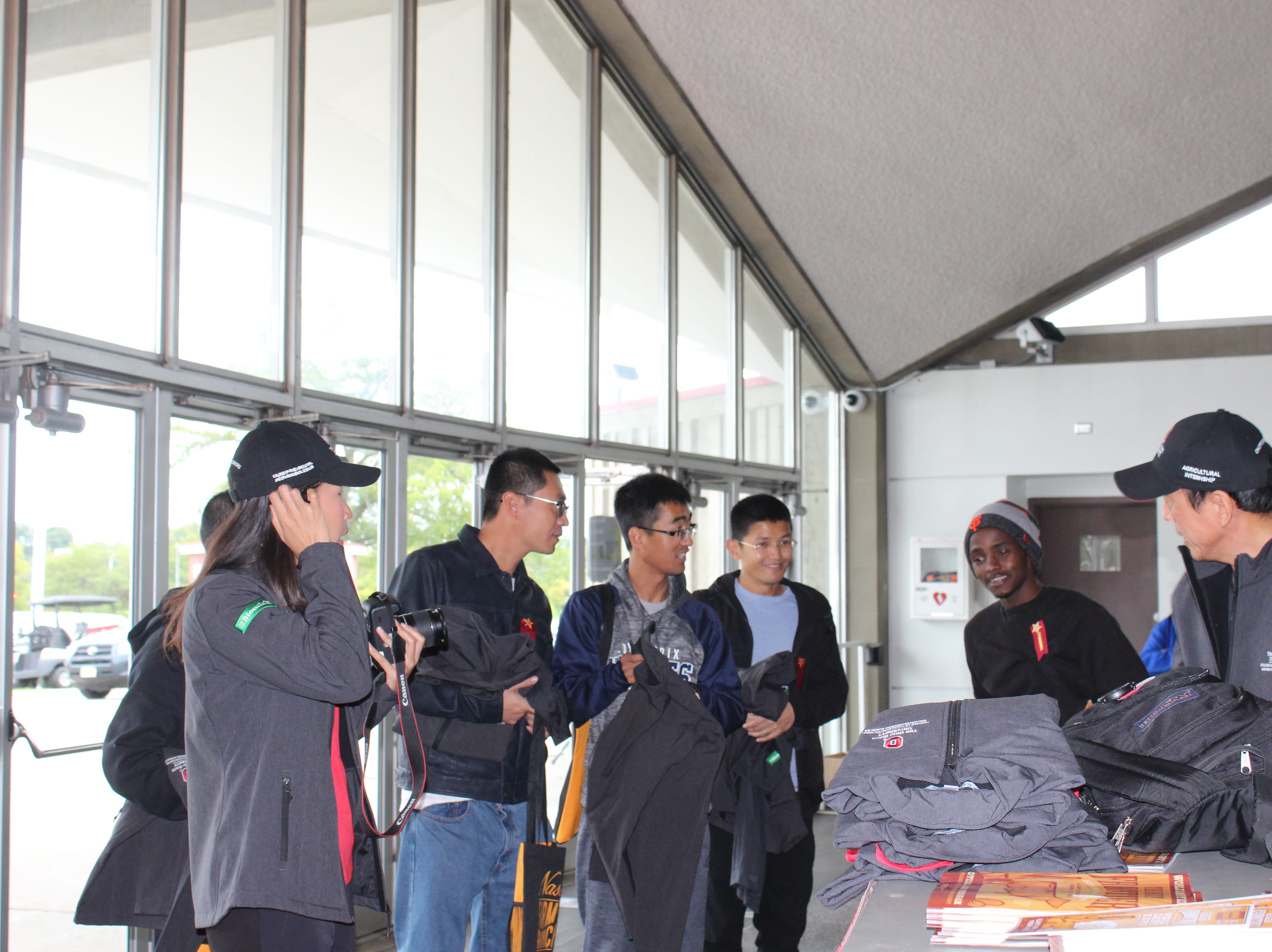 These students done their new jackets from the Ohio State College of Food and Agricultural Sciences.