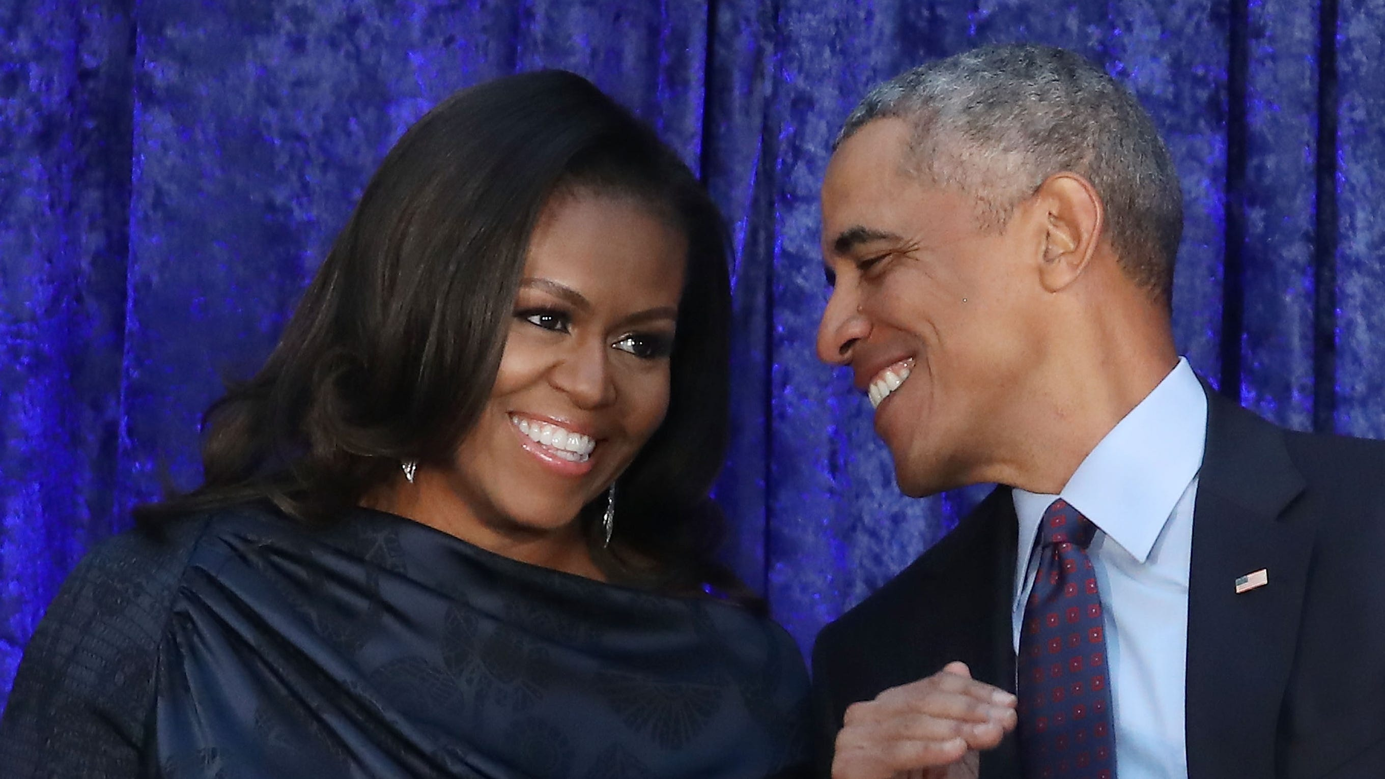 """Barack and Michelle Obama are toasting to 26 years of """"love, trust and respect"""" with sweet tributes on their wedding anniversary Wednesday."""