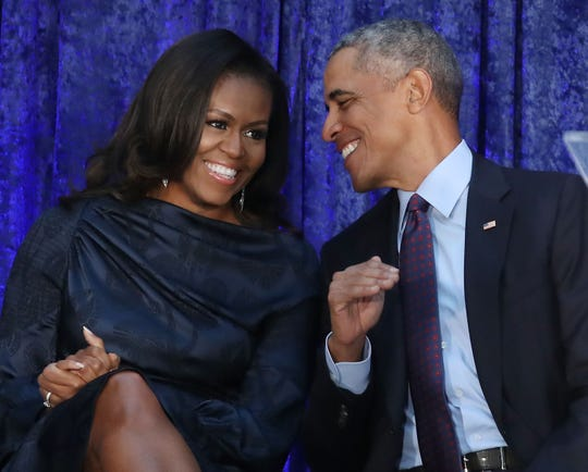 "Barack and Michelle Obama are toasting to 26 years of ""love, trust and respect"" with sweet tributes on their wedding anniversary Wednesday."