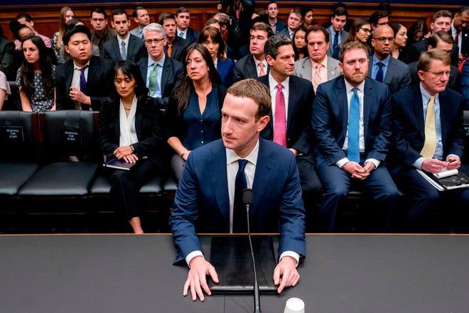 Facebook CEO Mark Zuckerberg testifies on Capitol Hill on April 11, 2018.