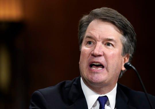Supreme Court nominee Brett Kavanaugh at Sept. 27, 2018 hearing, Washington, D.C.
