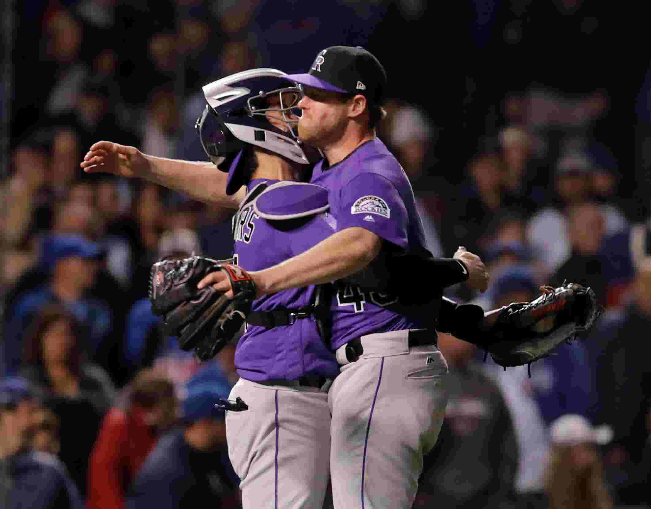 low priced f13f5 a18b1 Rockies upset Cubs in wild-card instant classic