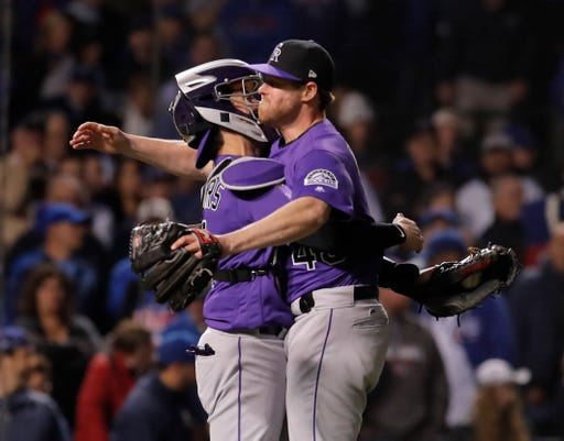 Usp Mlb Nl Wild Card Colorado Rockies At Chicago S Bbn Chc Col Usa Il