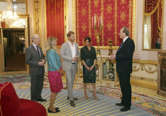 Prince Harry and Duchess Meghan of Sussex toured some of the rooms in the Royal Pavilion buildings in Brighton during an official visit to Sussex on Oct. 3, 2018 in Sussex, England. ) ORG XMIT: 775235102 ORIG FILE ID: 1045049816
