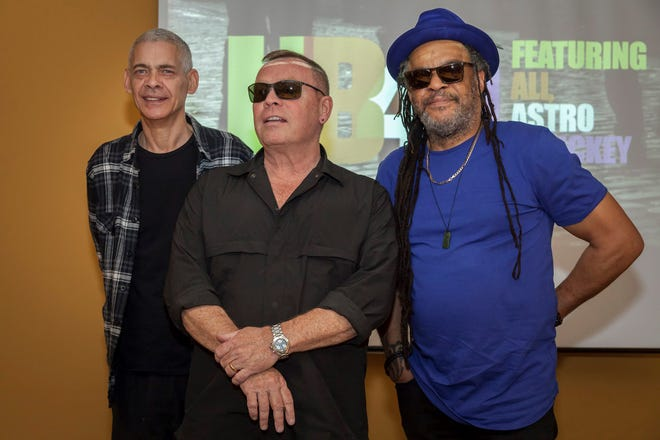 """We welcome Democrats and Republicans to our gigs – so long as they leave their politics at the door,"" says UB40 singer Ali Campbell, center."