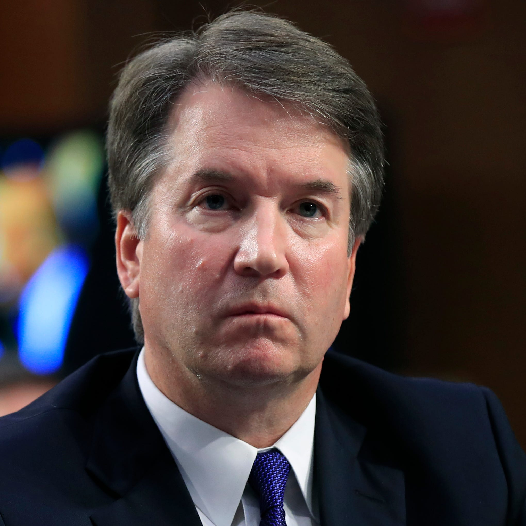 Supreme Court nominee Brett Kavanaugh is pictured listening during a Senate Judiciary Committee hearing on Capitol Hill.
