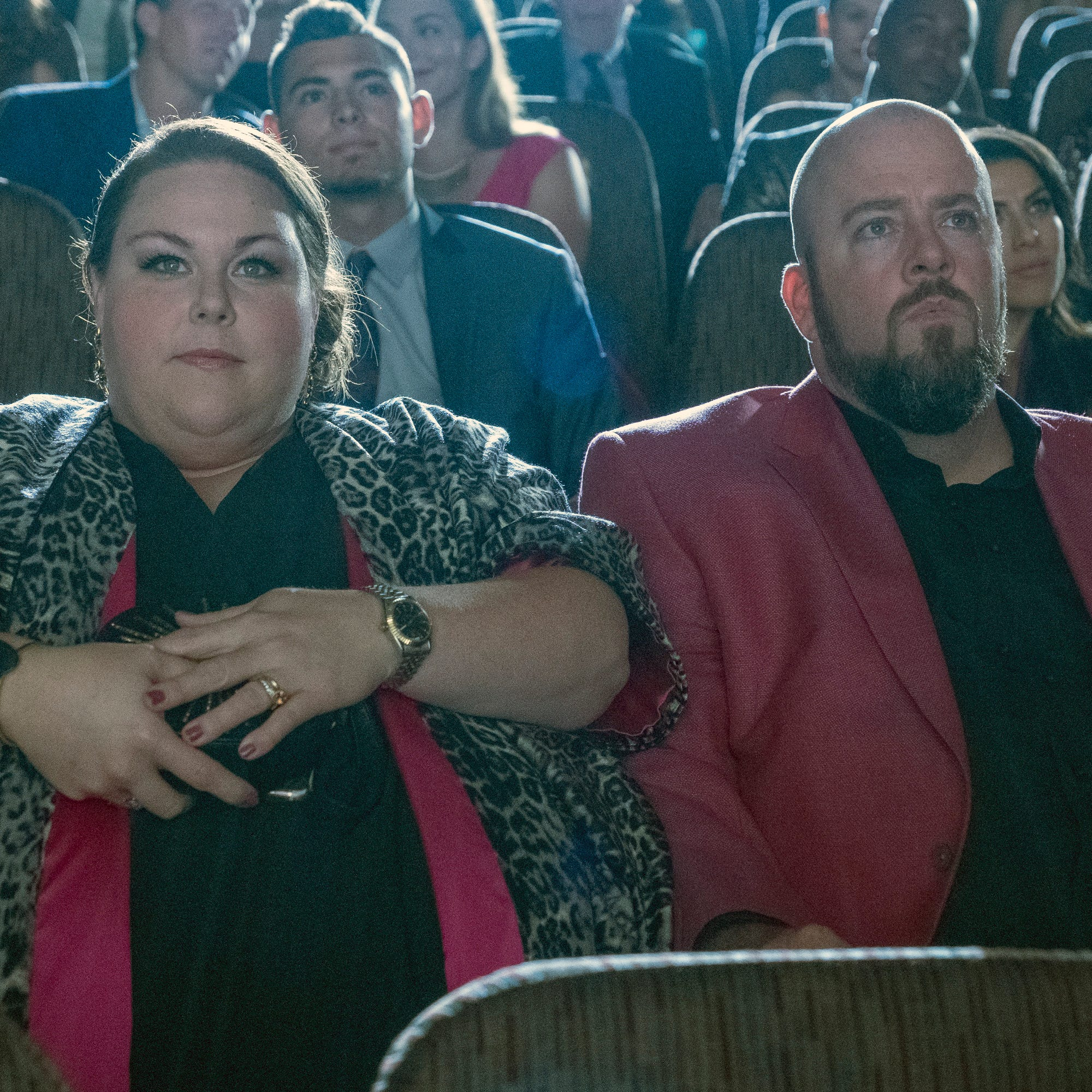"Chrissy Metz as Kate Pearson, Chris Sullivan as Toby on ""This Is Us."""