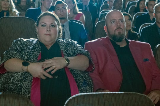"""Chrissy Metz as Kate Pearson, Chris Sullivan as Toby on """"This Is Us."""""""