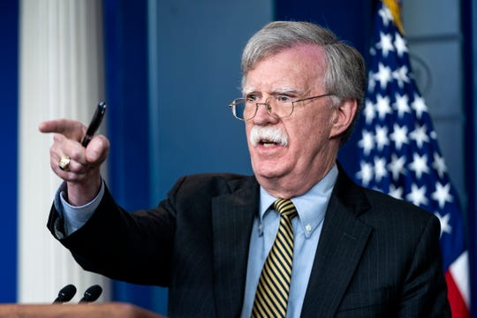 US National Security Adviser John Bolton answers reporter's questions in the press briefing room of the White House in Washington, DC, USA, 03 October 2018. Bolton spoke about Iran, as well as about Palestine, saying the latter is a 'so-called state.'