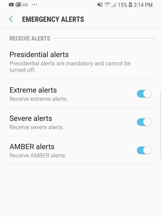 Presidential alert: How to turn off other wireless emergency