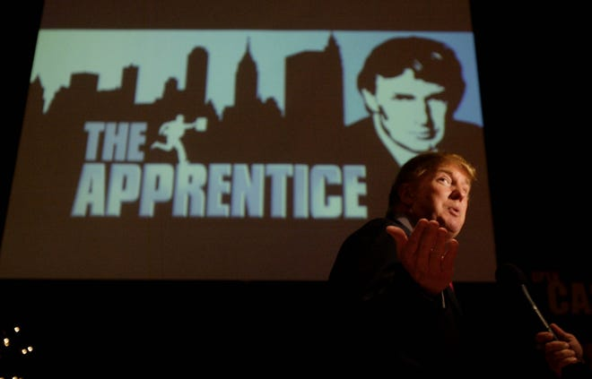 "Donald Trump seeks contestants for ""The Apprentice"" television show in 2004."