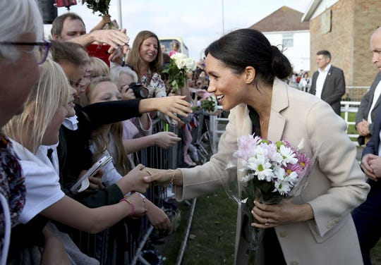 Duchess Meghan as she leaves the Joff Youth Centre.