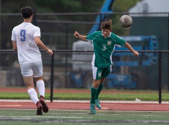 Reynaldo Guzman during the Freehold Twp. Boys Soccers vs Long Branch game in Long Branch NJ on October 4, 2018.
