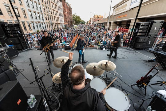 The Smithereens with Marshall Crenshaw at the Hoboken Arts and Music Festival on Sunday, Sept. 30, 2018.