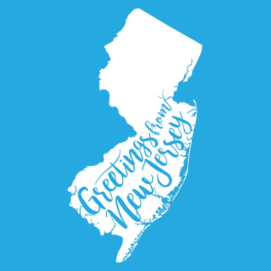 Greetings From New Jersey Eps10 Vector Map