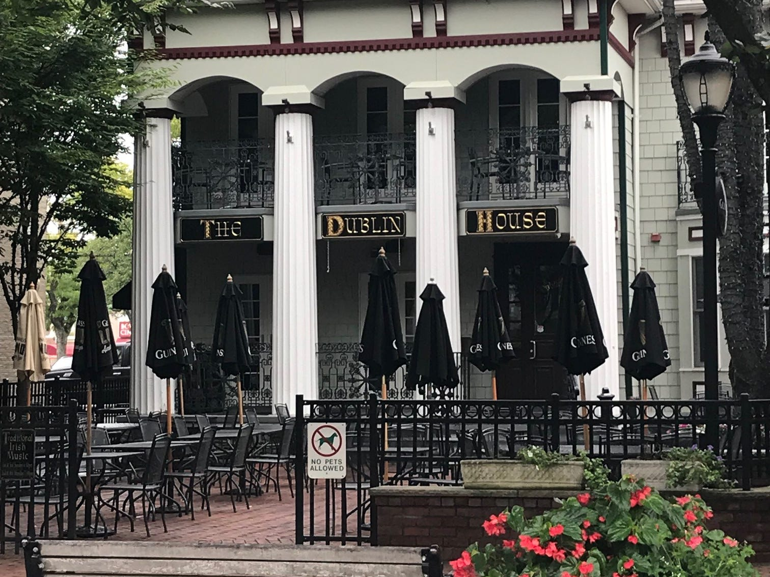 The Dublin House Restaurant & Pub is a longtime favorite for Irish food and outdoor dining along Monmouth Street in Red Bank.