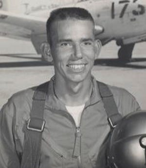 This undated photo provided by the Defense POW/MIA Accounting Agency shows Charles B. Goodwin, of Haskell, Texas. Goodwin was accounted for on May 18, 2017, and will be buried Friday in Abilene. The remains of the Navy pilot from West Texas will be returned to his family more than 50 years after he and his jet disappeared during a Vietnam War combat mission.
