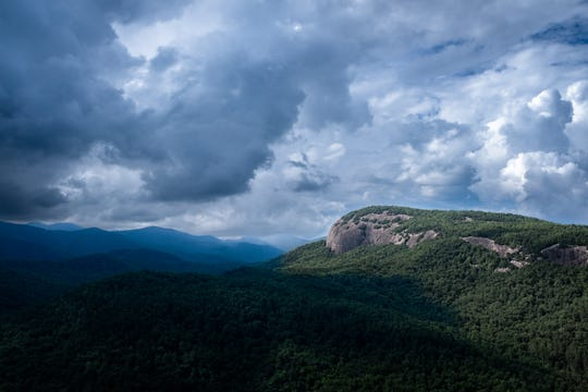A view of Looking Glass Rock from John Rock in Pisgah National Forest in Brevard, Sunday, Jul. 1, 2018.
