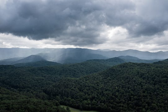 A view from John Rock in Pisgah National Forest in Brevard, Sunday, Jul. 1, 2018.