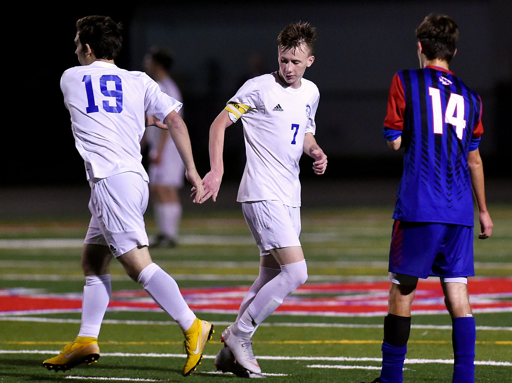 Jack Coleman, a junior soccer player at Maine-Endwell, during a game against Owego. October 3, 2018.