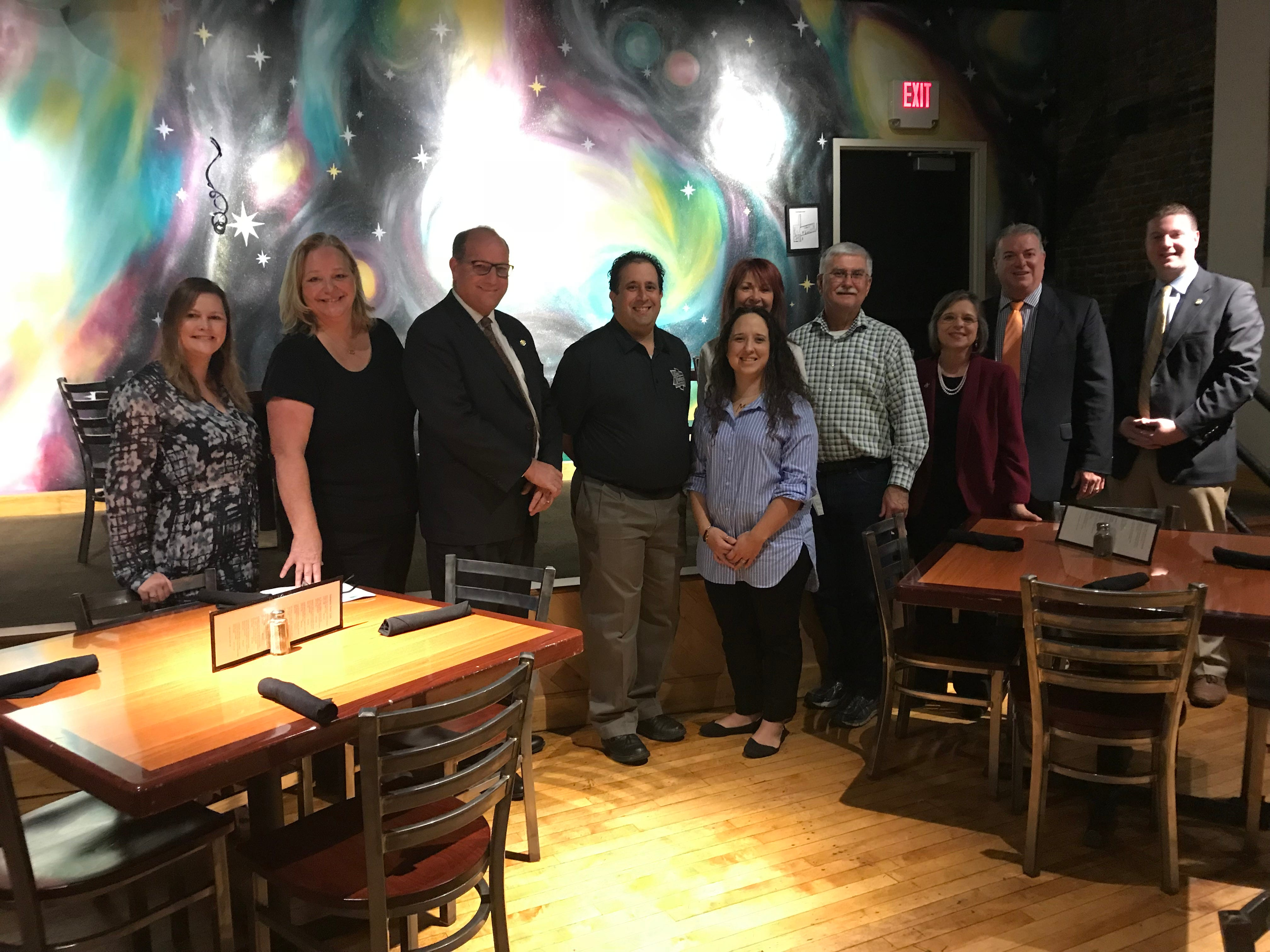 Participants of the Fall 2018 Binghamton Restuarant Week pose at Galaxy Brewing Company on Oct. 4.
