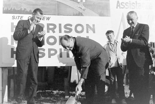 The Harrison Hospital groundbreaking, Jan 21, 1963.