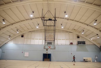 Here's a look inside the old East High School gym, renovated in 2018 after the high school was demolished