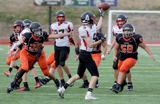 Central Kitsap's C-team played against Shelton on Monday at Silverdale Stadium. The Cougars don't have enough players to field a junior varsity team this season.