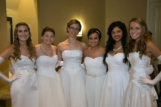 Ashlynn Kellner, Victoria Adams, Eileen O'Connell, Kiana Zanganeh, Michelle Smeen and Madison Donovan attend the 2016 South Brevard Debutante Ball held May 29 at the Hilton Rialto Grand Ballroom.