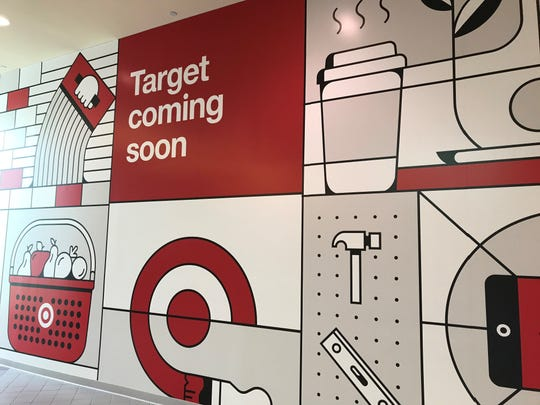 The view inside University Mall where the entrance to Target will soon be.