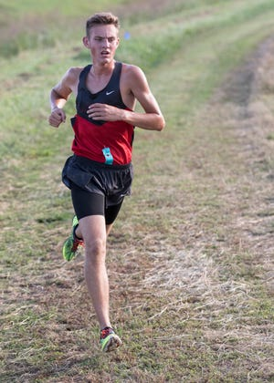 Westfall's Zach Shipley took first place for the boys at the 2018 Down on the Farm cross-country race with a time of 17:31.00.