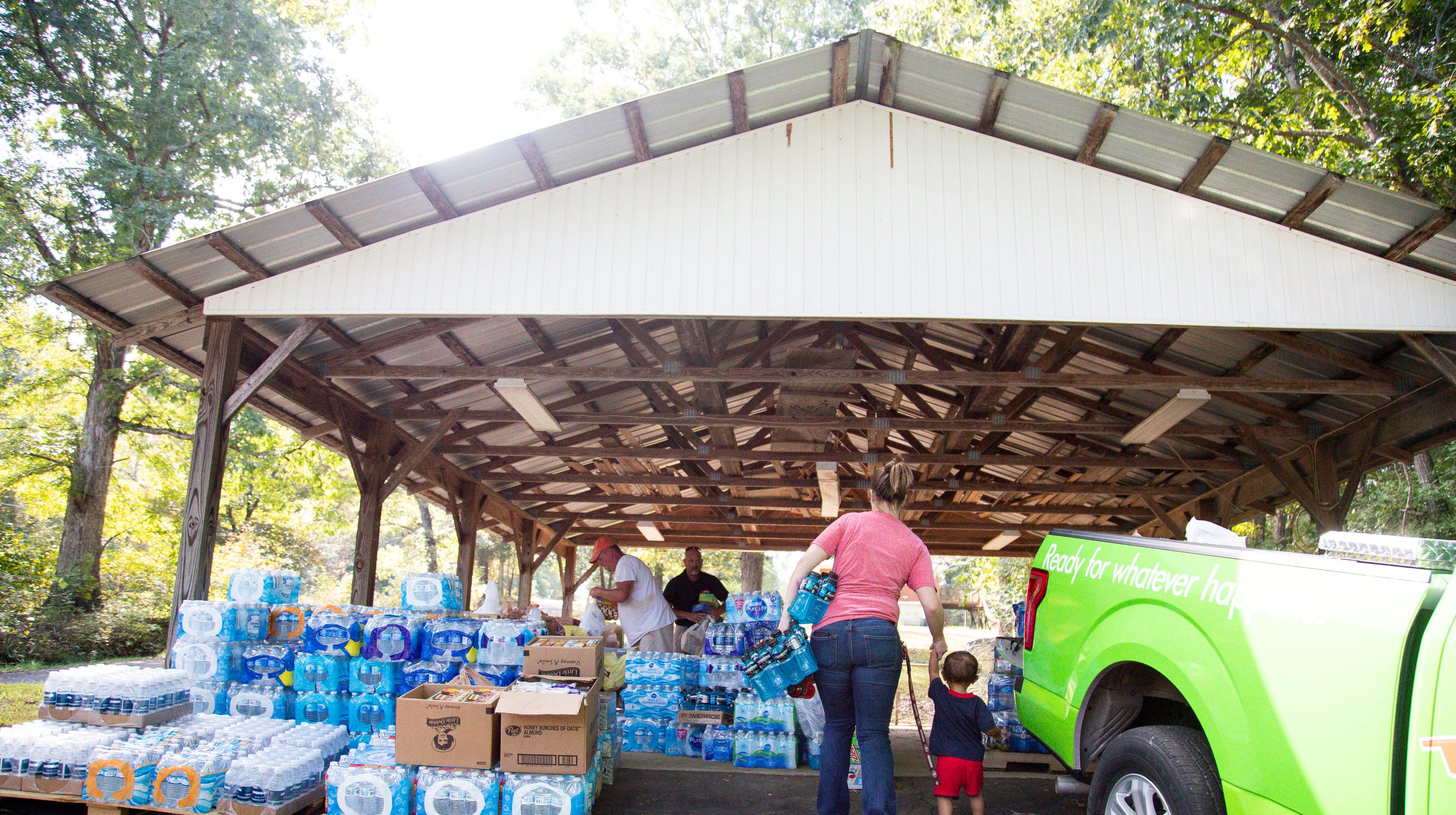 Kirby Wallace manhunt: Mountains of donated goods give