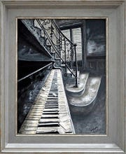 """""""Haunted Piano"""" by Cranford resident Priscilla Young."""