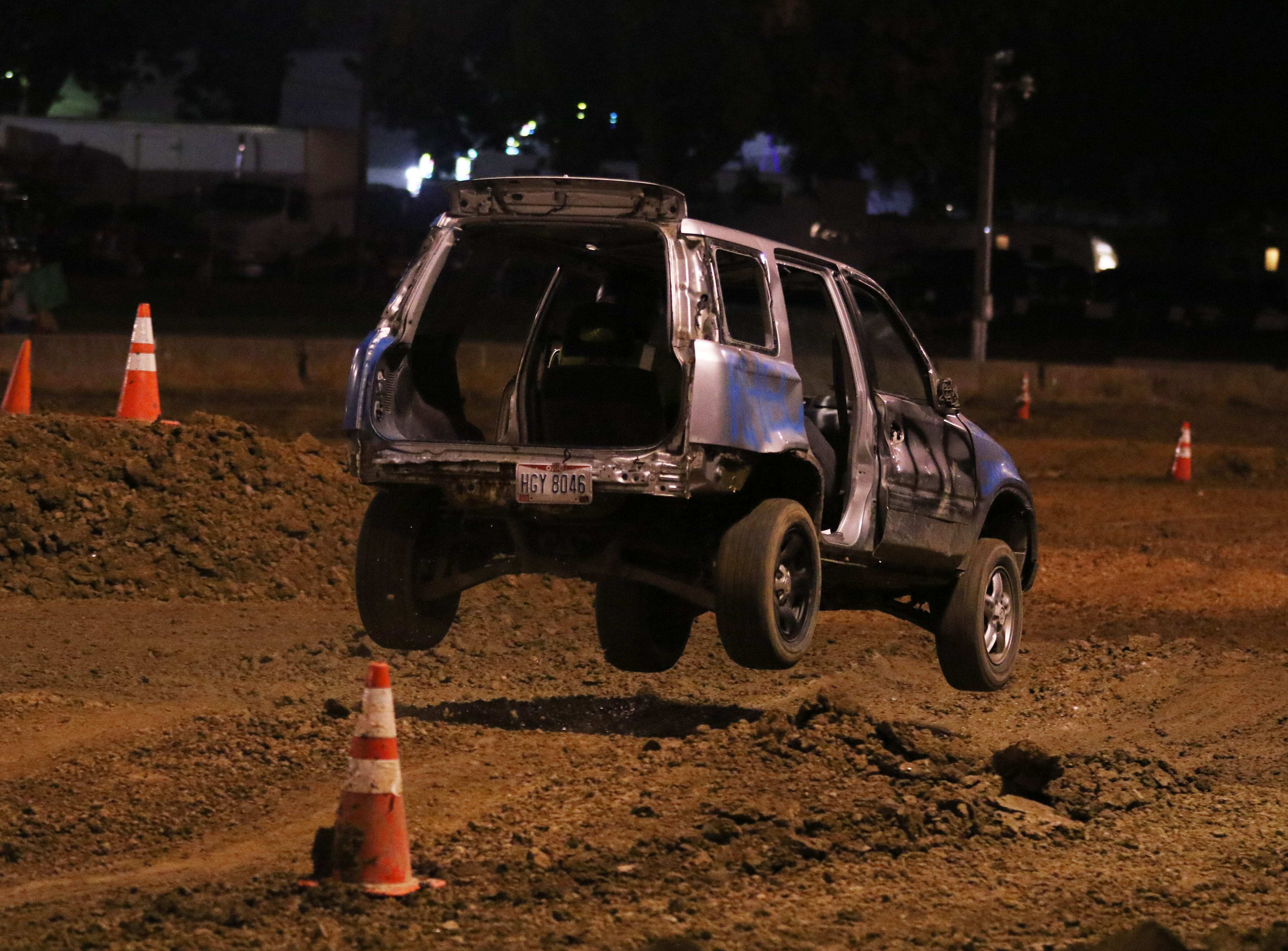 The Coshocton County Fair hosted a rough truck competition Wednesday night. More than 70 vehicles of various shapes, sizes and states of disrepair took part.