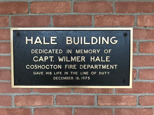 The Coshocton Fire Department station is dedicated in memory of Wilmer Hale who died fighting a fire at Buckeye Fabric in 1975 when a wall fell on him.