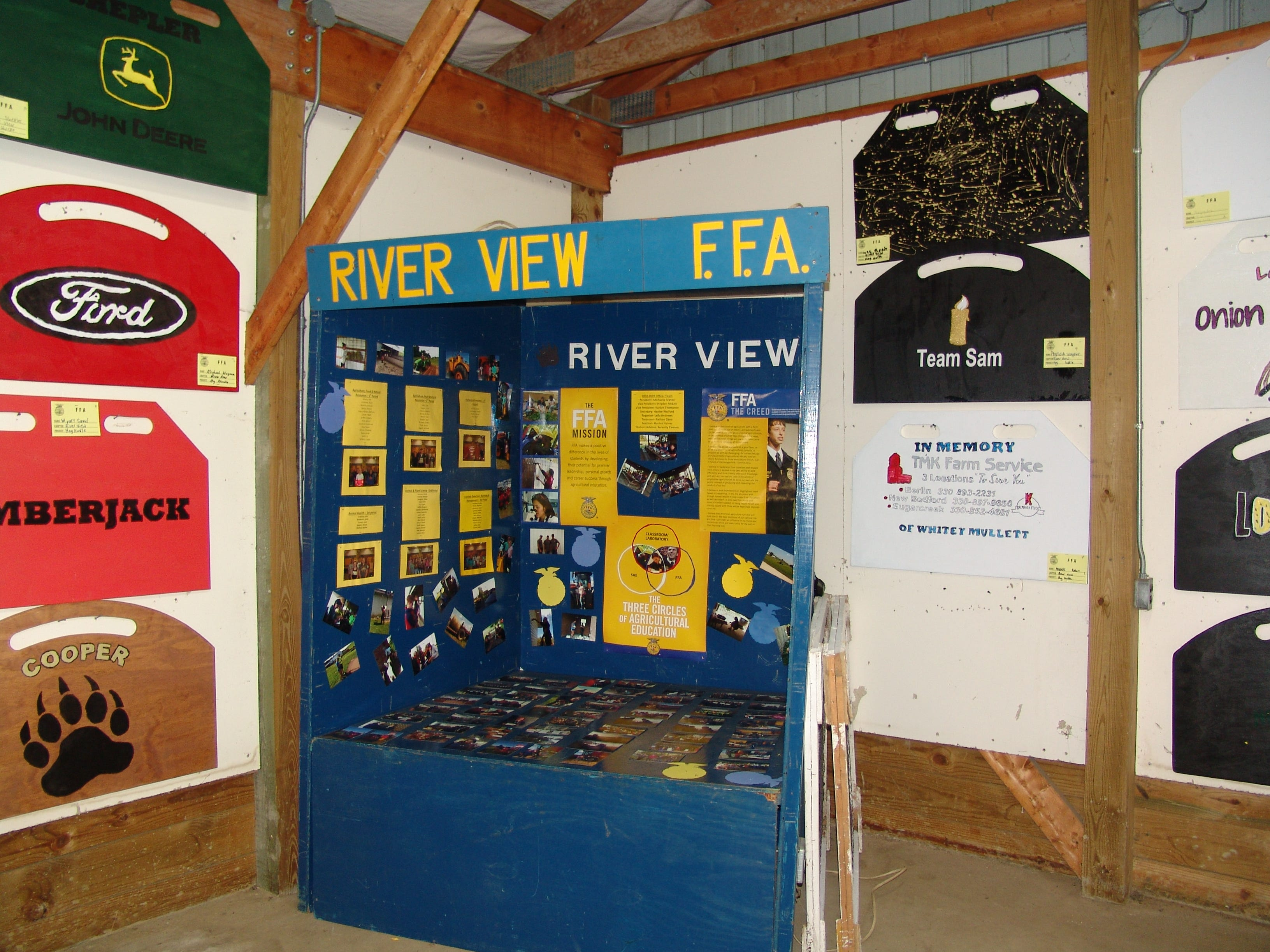 Exhibits in the youth building at the Coshocton Country Fair.