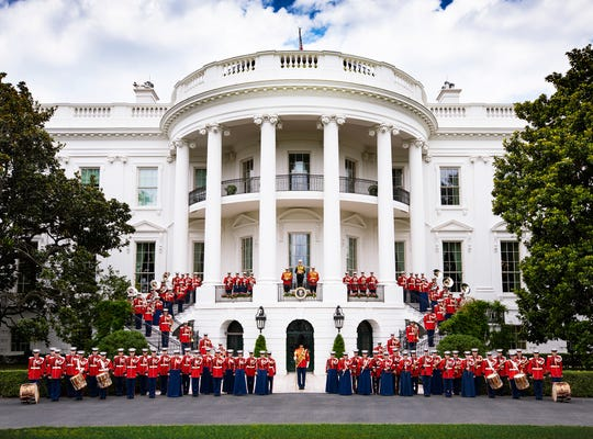 President Trump's inauguration at the White House was Colonel Jason K. Fettig's first in leading the band.