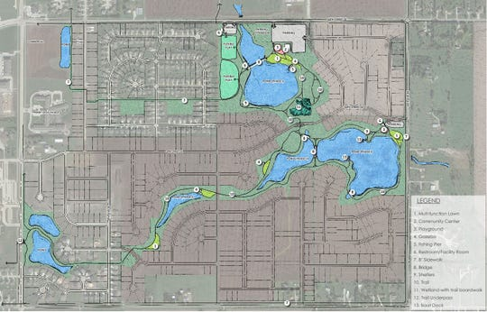 Altoona's plans for Spring Creek Park, shown above, include two new large ponds, a trail system and several other amenities.