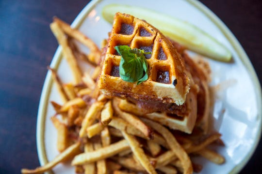 Nashville hot chicken and waffles from BeerStyles Wednesday, Oct. 3, 2018.