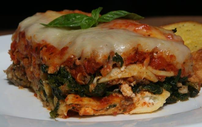Cheater's Lasagna with Italian sausage.