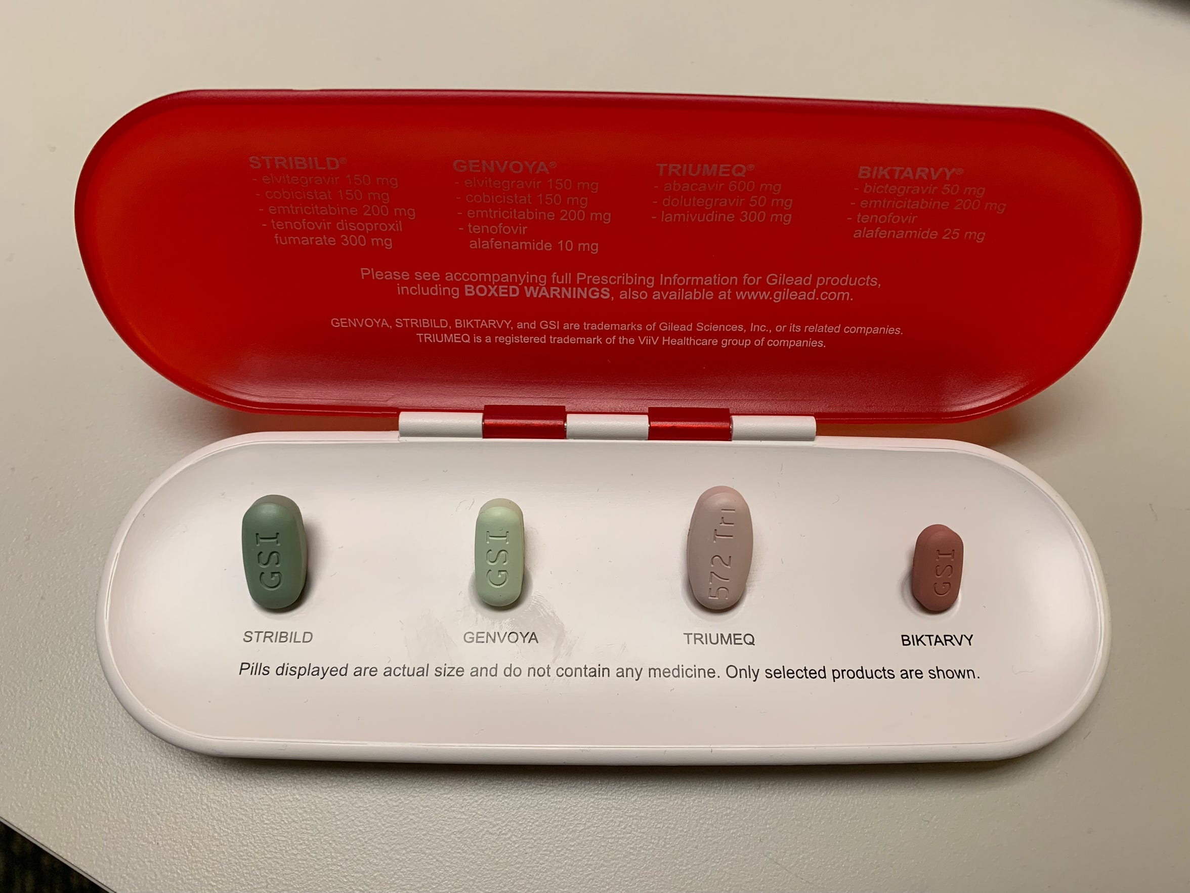 Major medical advancements have been made in HIV treatment-- including the sheer size and volume of pills patients have to take. Biktarvy, one of the most common medications now to treat HIV, is much smaller in size than previous pills.
