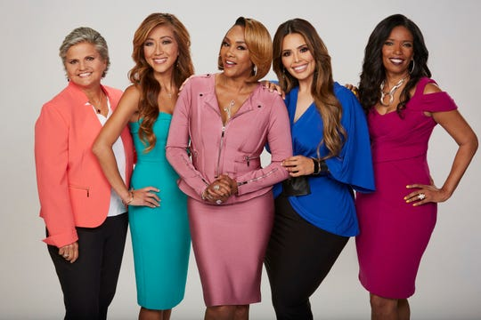 Former Macomb Circuit Court Judge Mary Chrzanowski, Dr. Judy Ho, Vivica A. Fox, Rosie Mercado, and Areva Martin, hosts of the CBS series FACE THE TRUTH.