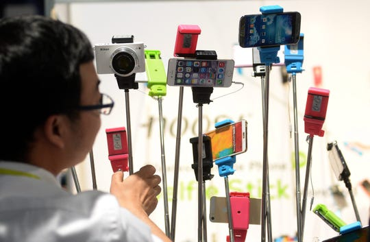 Selfie sticksat the 2015 International Consumer Electronics Showin Las Vegas