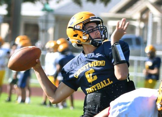 Quarterback Ali Kathem has taken over as starting quarterback at Dearborn Heights Crestwood.