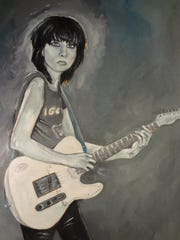 "Detroit musician and artist Wendy Case wrote about Chrissie Hynde and painted this portrait for ""Women Who Rock."""