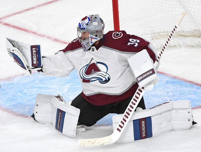 Colorado Avalanche goaltender prospect Pavel Francouz (39) will start the season with the Colorado Eagles.