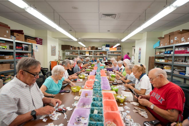 Shell Point has 85 Stamp Ministry volunteers, which includes satellite locations at The Arbor Assisted Living Center at The Woodlands; The Springs; and King's Crown.